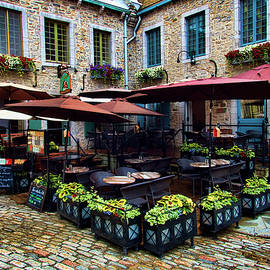 David Smith - Outdoor French Cafe in Old Quebec City