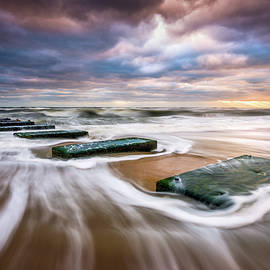 Outer Banks North Carolina Beach Sunrise Seascape Photography OBX Nags Head NC by Dave Allen