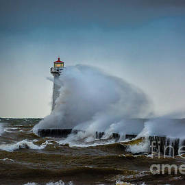 Outer Light Sodus Point by Roger Monahan