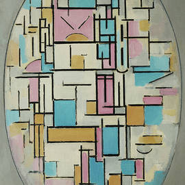 Oval Composition by Piet Mondrian