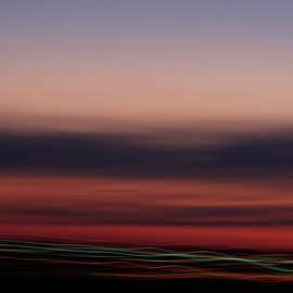 Over city lights by Angela King-Jones