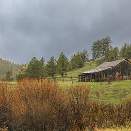 Overland Road Barn by Lorraine Baum