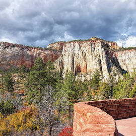 John M Bailey - Overlook in Zion National Park Upper Plateau
