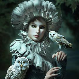 Owls Talk - dedicated to Heather King by Britta Glodde