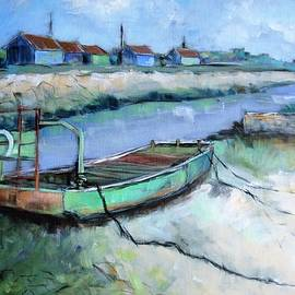 Oyster flatboat in Oleron by Cathy MONNIER