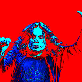Ozzy in red by Martin James