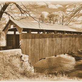 Michael Mazaika - PA Country Roads - Sam Wagner Covered Bridge Chillisquaque Creek #8S Northumberland Montour Counties