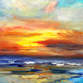 Pacific Sunset Glow by Nancy Merkle