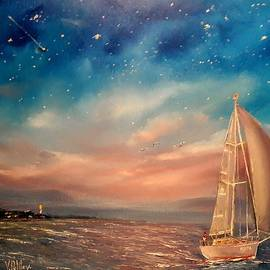 Politov Valeryi - Paint. Oil unique work. Size 20x16x1 in. V.Politov. Artist-impressionist, modern painter, PhD. from