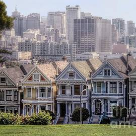Painted Ladies Of Alamo Square by Mary Lou Chmura