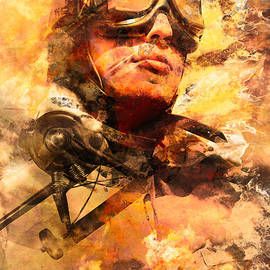 Painted Pilots At War by Jorgo Photography - Wall Art Gallery
