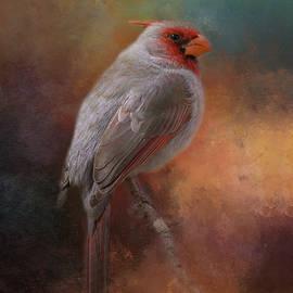 Painted Pyrrhuloxia by Teresa Wilson