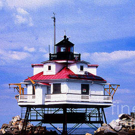 Skip Willits - PAINTED THOMAS POINT LIGHTHOUSE