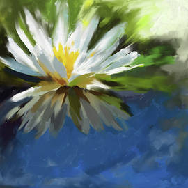 Painting 375 1 Water Lily 1 - Mawra Tahreem