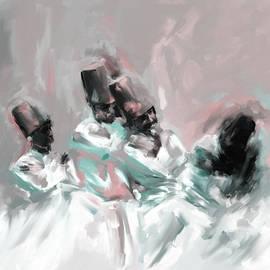 Painting 720 2 Sufi Whirl 6 - Mawra Tahreem