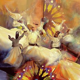 Painting 733 Sufi Whirl 20 - Mawra Tahreem