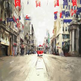 Painting 761 1 Istiklal Street - Mawra Tahreem