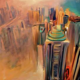 Mawra Tahreem - Painting 778 1 Dubai Skyline