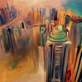 Mawra Tahreem - Painting 778 2 Dubai Skyline