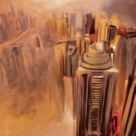 Mawra Tahreem - Painting 778 3 Dubai Skyline