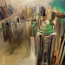Mawra Tahreem - Painting 778 4 Dubai Skyline