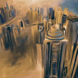 Mawra Tahreem - Painting 778 5 Dubai Skyline