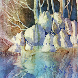 Pale Forest with Rocks by Teresa Ascone