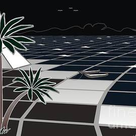 Palm beach and Rock by Michael Mirijan