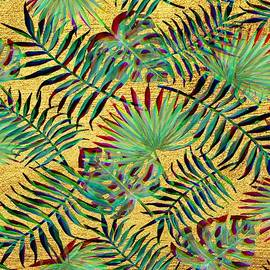 Palm Leaf on Gold - Marianna Mills