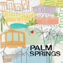Palm Springs Cityscape- Art by Linda Woods