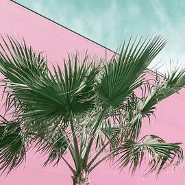 Palm Tree in Millennial Pink and Mint Green by Georgia Mizuleva