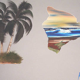 Palms and Big Island by Karen Nicholson