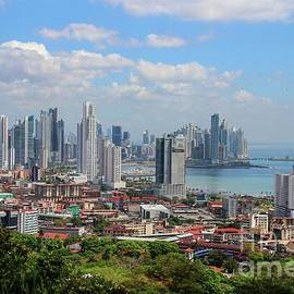 Panama City Skyline Harbor view from Ancon Hill by Marlin and Laura Hum