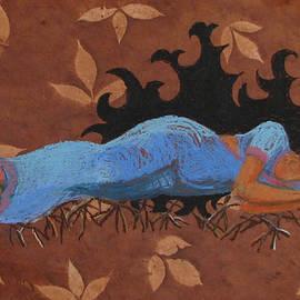 Panchalli Dreaming of Revenge by Art Nomad Sandra  Hansen
