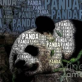 Panda with words by Dwight Cook