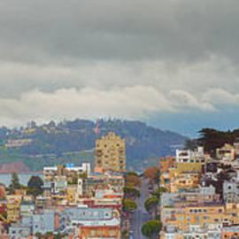 Panorama of Coit Tower - Yerbabuena Island and Bay Area - San Francisco California