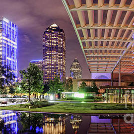 Silvio Ligutti - Panorama of Downtown Dallas Skyline and Architecture of Winspear Opera House - Dallas North Texas