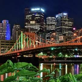 Frozen in Time Fine Art Photography - Panorama of Pittsburgh with Foliage
