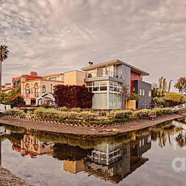 Panorama of Venice Beach Canals - Los Angeles California by Silvio Ligutti