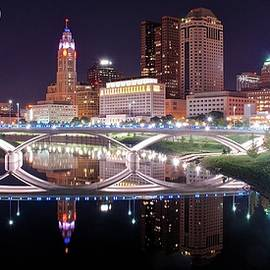 Frozen in Time Fine Art Photography - Panoramic Columbus Moon