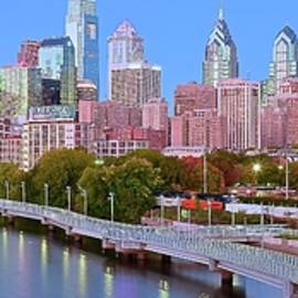 Frozen in Time Fine Art Photography - Panoramic Philly Skyline