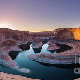 Panoramic view at Reflection Canyon, Lake Powell by Henk Meijer Photography