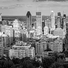Yves Gagnon - Panoramic View of Downtown Montreal Quebec