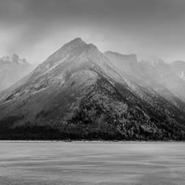 Yves Gagnon - Panoramic Winter Storm Lake Minnewanka