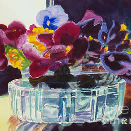 Kathy Braud - Pansies in Crystal Vase