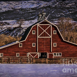 Paonia Colorado Red Winter Barn by Janice Pariza