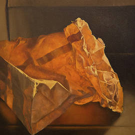 Glowing Paper Bag by Rebecca Giles