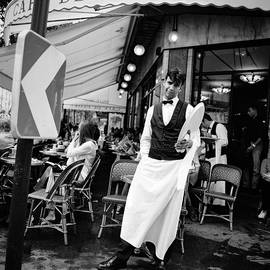 Paris Cafe de Flore Waiter.  by Cyril Jayant