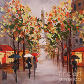 Paris in the fall by Lois Viguier