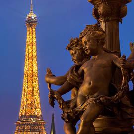 Paris Lamppost and Eiffel by Brian Jannsen